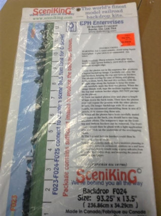 F024 O, S Scale SceniKing Backdrop Kit