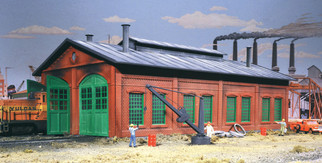 933-3007 HO Scale Walthers Cornerstone 2-Stall Enginehouse Kit