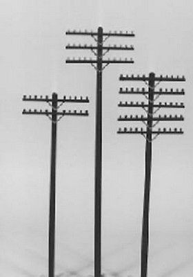 628-0031 HO Scale Rix Products Railroad Telephone Poles-Crossarms Only(72)