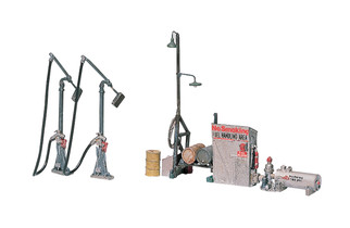 D232 HO Scale Woodland Scenics Diesel Fuel Facility Metal Kit