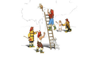 A1882 HO Scale Woodland Scenics Firemen to the Rescue