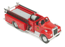 30-50100 O Scale MTH RailKing Die-Cast Fire Truck-Braddock, PA