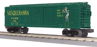30-74870 O Scale MTH RailKing Box Car-Susquehanna