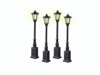 6-24156 O Scale Lionel Lionelville Street Lamps