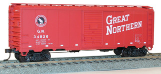 35099 HO Scale Accurail 40' AAR Boxcar Kit-Great Northern(Red)