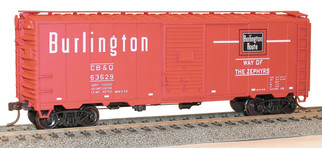 35109 HO Scale Accurail 40' AAR Boxcar Kit-Burlington(CB&Q Red)