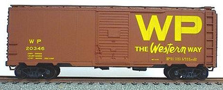 3516 HO Scale 40' AAR Boxcar Kit-Western Pacific(Yellow)