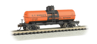 17856 N Scale Single Dome Tank Car-C.F. Simonin's Sons