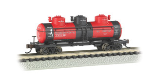 17154 N Scale Bachmann 3 Dome Tank Car Transcontinental Oil Co.