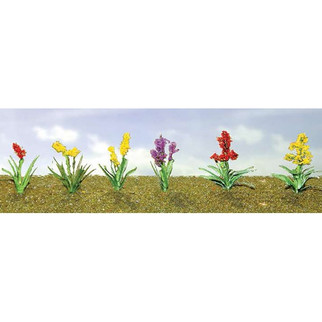 "95560 O Scale JTT Scenery Assorted Flower Plants 2, 1"" Height 10/pk"