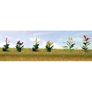 """95564 O Scale Assorted Flower Plants 4, 1"""" High 10/pk"""