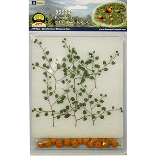 "95532O Scale JTT Scenery Pumpkins 2 1/2"" Long 6/pk"
