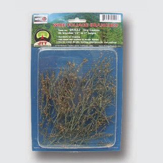 """95522 JTT Scenery Wire Foliage Branches Dry Leaves 1.5"""" - 3"""" High 60/pk"""
