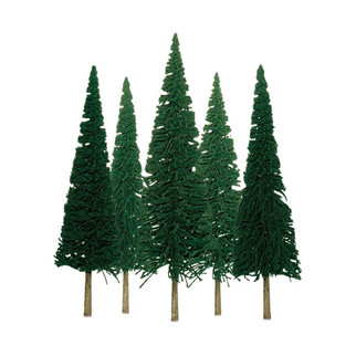 """92003 HO Scale JTT Scenery Dcenic Pine 4"""" to 6"""" 24/pk"""