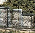 C1259 Woodland Scenics HO Scale Retaining Walls Three Cut Stone Sections(3 each)