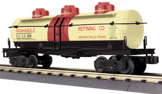 30-73502 O Scale MTH RailKing 3-Dome Tank Car-Panhandle Refining Company