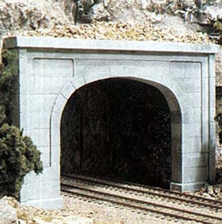 C1256 Woodland Scenics HO Scale Concrete Double Tunnel Portal(1 each)