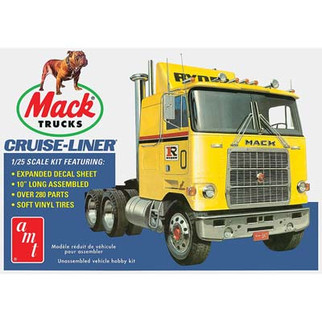 AMT1062 AMT Mack Cruise-Liner Semi Tractor 1/25 Scale Plastic Model Kit