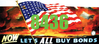 8436 HO Scale Tichy Train Group Billboard Lets All Buy Bonds