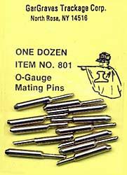 801 O Scale Gargraves O-Gauge Mating Pins (12)