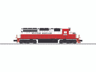 6-84268 O Scale Lionel Legacy SD40 Locomotive-Western Maryland #7547