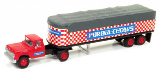 31171 HO Scale Classic Metal Works '60 Ford Tractor/Covered Wagon Set-Purina