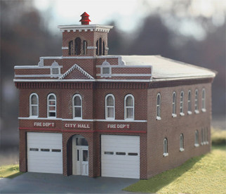 BRA200 HO Scale LaserArt Structure-Branchline Hermann Brick Fire Station