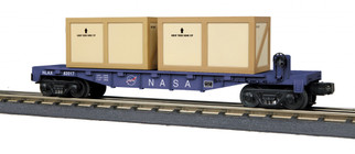 30-76703 O Scale MTH RailKing Flat Car w/(1) Crates-U. S. Army