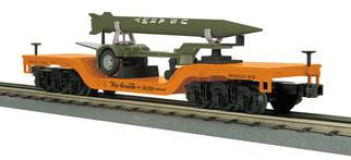 30-76700 O Scale MTH RailKing  Depressed Center Flat Car w/Rocket Load-Denver Rio Grande