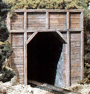C1154 Woodland Scenics N Scale Two Timber Portals  Single(2 each) Tunnel Portals