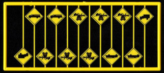 8299 HO Scale Tichy Train Group Warning Sign