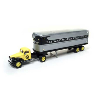 31173 HO Scale Classic Metal Works 41/46 Chevy Tractor/Trailer Set Lee Way Trucking