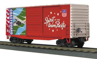 30-74924 O Scale MTH RailKing 40' High Cube Box Car-Union Pacific(Coast Guard-Spirit of Union Pacific)