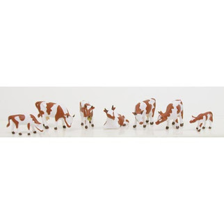 5742 HO Scale Model Power Cows & Calves (6)
