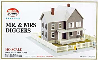 489 HO Scale Model Power Mr. & Mrs. Diggers House Kit