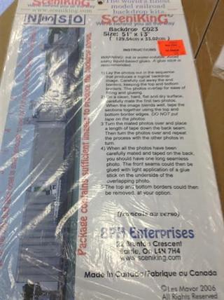 C023 N, HO, S, O Scale SceniKing Backdrop Kit