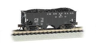 19555 N Scale Bachmann 55 Ton USRA Outside Braced Hopper w/Load-C&O