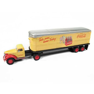 31177 HO Scale Classic Metal Works Mini Metals '41/46 Chevy Tractor/Trailer Set-Coca-Cola