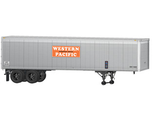 6-84887 O Scale Lionel Western Pacific 40' Trailer 2-Pack