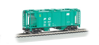 73505 HO Scale Bachmann PS-2 Two-Bay Covered Hopper-Penn Central