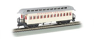 15103 HO Scale Bachmann Old-Time Coach w/Rounded End Clerestory Roof-North Central RR