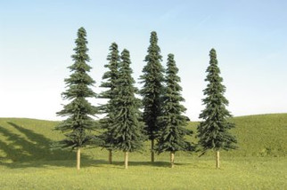 """32204 Bachmann 8"""" - 10"""" Spruce Trees ( 3 Per Pack)"""