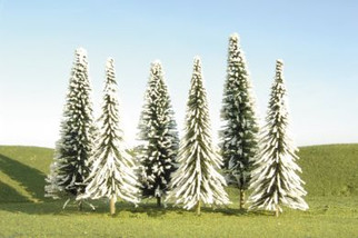 """32202 Bachmann 8"""" - 10"""" Pine Trees with Snow (3 Per Pack)"""