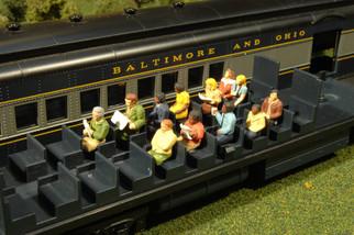 33115 HO Scale Waist-Up Seated Passengers