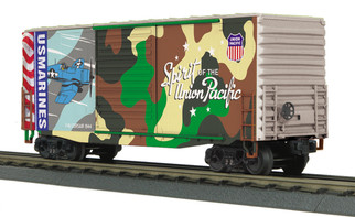 30-74926 O Scale MTH RailKing 40' High Cube Box Car-Union Pacific(Marines Spirit of Union Pacific)