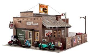 BR5045 HO Woodland Scenics Deuce's Bike Shop