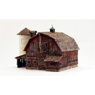 BR5038 Woodland Scenics HO Built-Up Old Weathered Barn