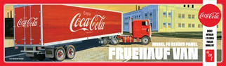 AMT1109 AMT Model FB Beaded Panel Fruehauf Van-Coca Cola 1/25 Scale Plastic Model Kit
