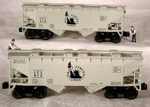 96326 O Scale Ready Made Trains 4-Bay Hopper-CNJ