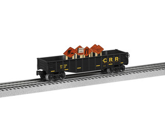 6-84766 O Scale Lionel Gondola with Construction Signs